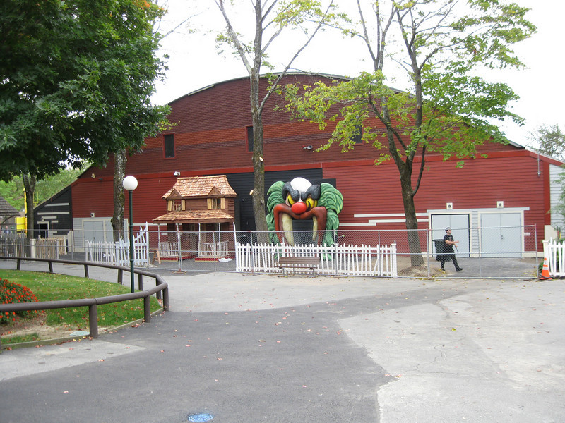 An overview of the roller rink building construction. New exit doors were also added.