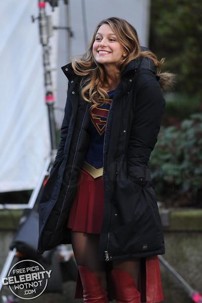 Melissa Benoist Looked Overjoyed Leaping Around The Supergirl Set!