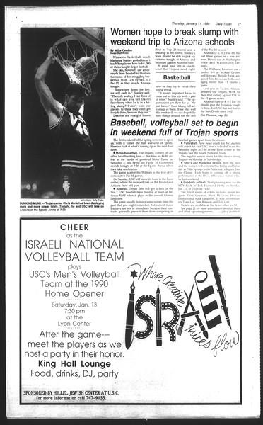 Daily Trojan, Vol. 111, No. 2, January 11, 1990