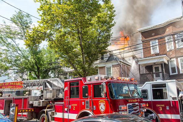 Passaic NJ 5th alarm, 74 & 76 Passaic St. 07-27-20