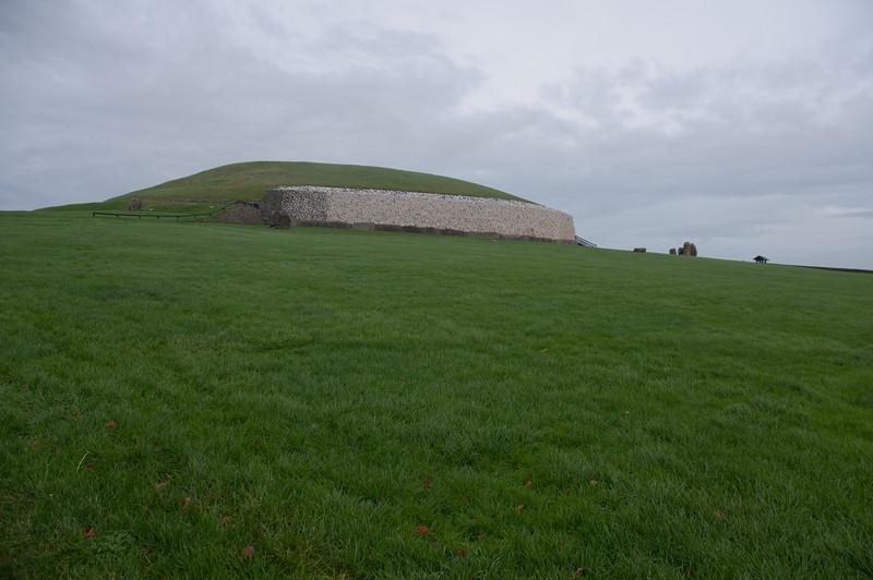 Open field surrounding Newgrange in County Meath, Ireland