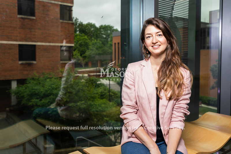 George Mason University PhD. candidates in Environmental Science and Policy Jessica Roberts won Fulbright Scholarship. Photo by Lathan Goumas/Strategic Communications