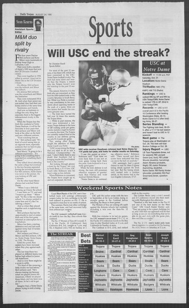 Daily Trojan, Vol. 126, No. 35, October 20, 1995