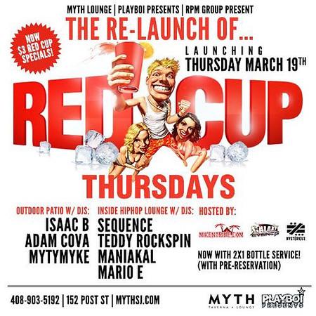 RED CUP THURSDAYS @ MYTH 11.12.15