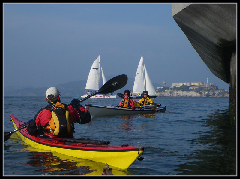 Another classic view of sailboats and Alcatraz