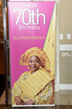 Adeniji 70th Birthday
