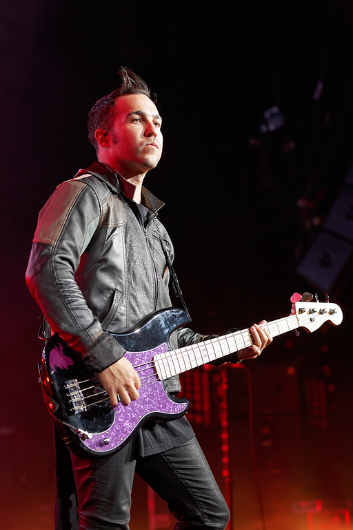 . Fall Out Boy\'s Pete Wentz at DTE on 7-8-14. Photo by Ken Settle