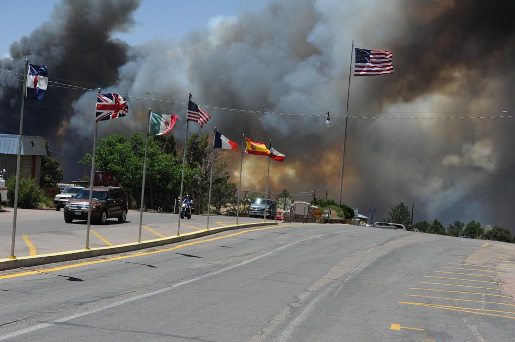 . The fire near the Royal Gorge. Brandon Hopper/Daily Record