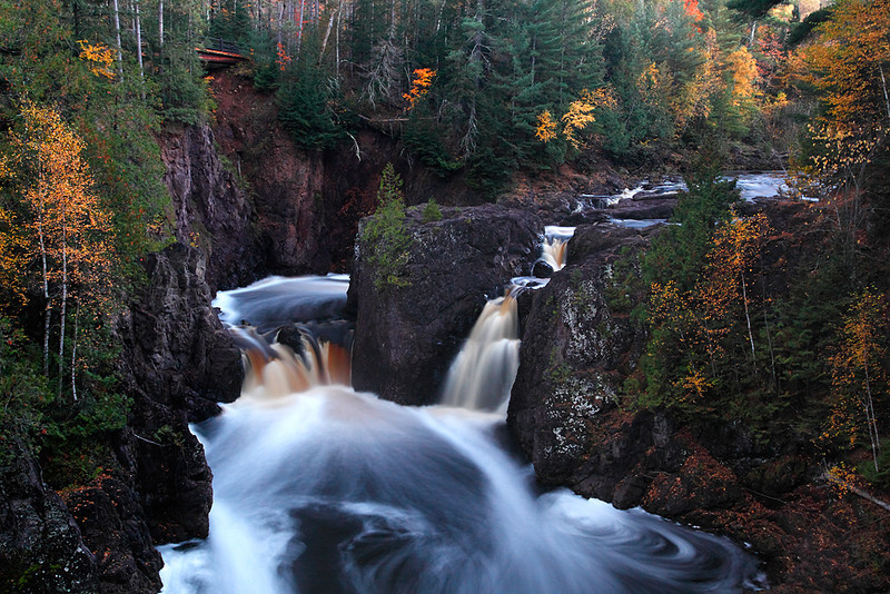 Approaching Darkness - Copper Falls (Copper Falls State Park - Wisconsin)