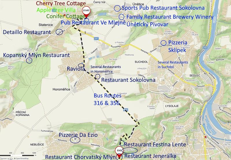 Directions to Chorvatský Mlýn Restaurant