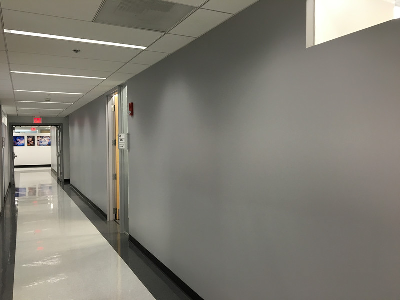 Banner UMC / Otolaryngology Hall prior to Photographic Gallery Installation.