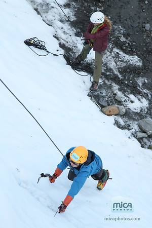 August 10 Ice Climb with Scott and Katie