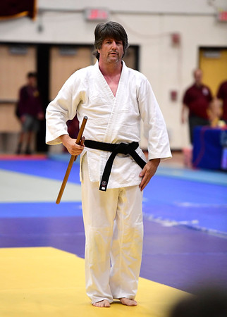 7/20/2019 Mike Orazzi | Staff Charles Schweizer during the Nutmeg Games Judo held at New Britain High School Saturday morning.