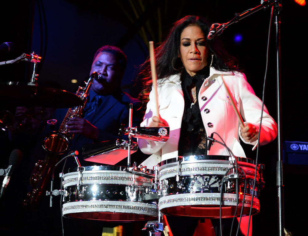 . Sheila E. performs during The NAMM (National Association of Music Merchants) Show, the world wide music trade show, at the Anaheim Convention Center in Anaheim on Friday January 24, 2014. NAMM is a music trade show drawing retailers and other industry people to Anaheim for four days of everything music. (Staff Photo by Keith Durflinger/San Gabriel Valley Tribune)