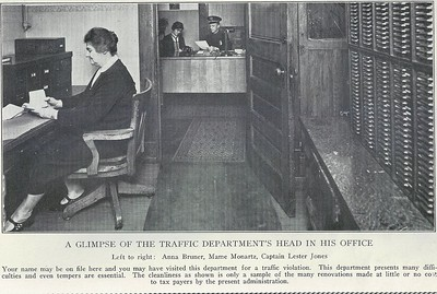 Traffic Department Office 1929