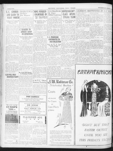 Daily Trojan, Vol. 23, No. 109, March 16, 1932