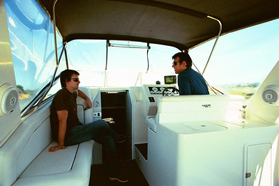 On a boat with Bright, 2006
