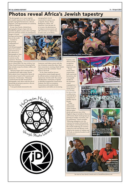 Jewish Report, April 9-16, 2021, Johannesburg, South Africa