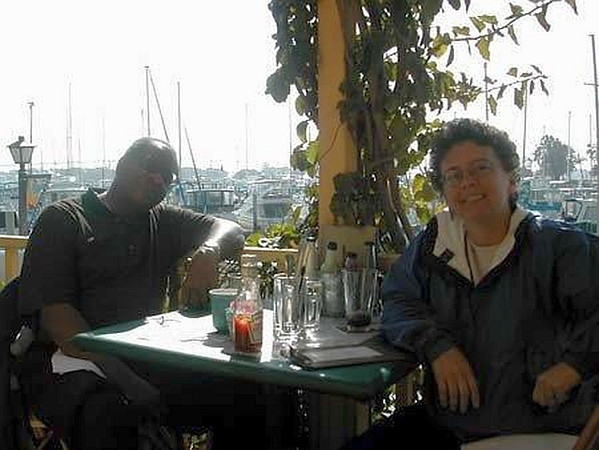 GRegory Burrus with Debbie Bauer in San Diego at OSS 2002 A.jpg