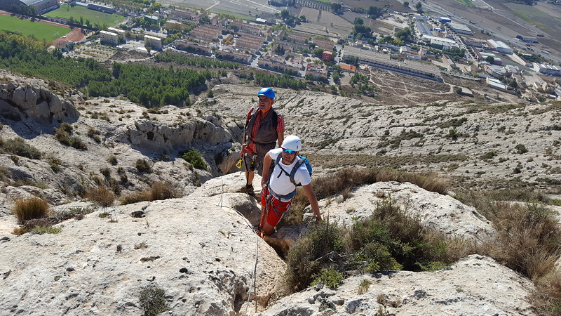 Approaching the summit at the Castillo de Salvatierra Via Ferrata
