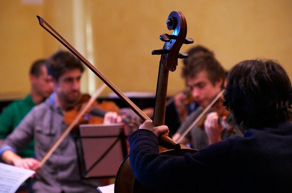 Orchestra da camera Accademia - Pinerolo - prove Antiche arie e danze di Ottorino Respighi - orchestra rehearsal, recording session