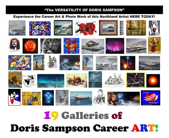"DORIS SAMPSON, ARTIST . . . ""Versatility!"""