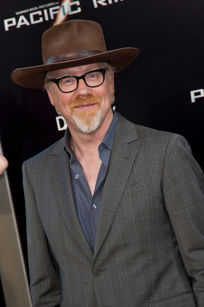 HOLLYWOOD, CA - JULY 09: TV personality Adam Savage of MythBusters arrives at the premiere of Warner Bros. Pictures' and Legendary Pictures' 'Pacific Rim' at Dolby Theatre on Tuesday, July 9, 2013 in Hollywood, California. (Photo by Tom Sorensen/Moovieboy Pictures)