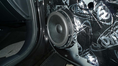 2013 Mitsubishi Lancer Evolution X Front Speaker Installation - USA