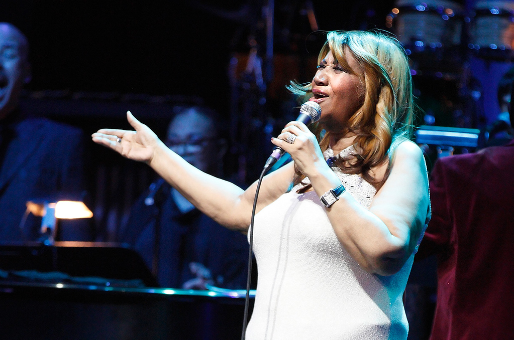 . Aretha Franklin performs at Sound Board Theatre in the Motor City Casino on Saturday, Dec. 21, 2013. Photo by Ken Settle