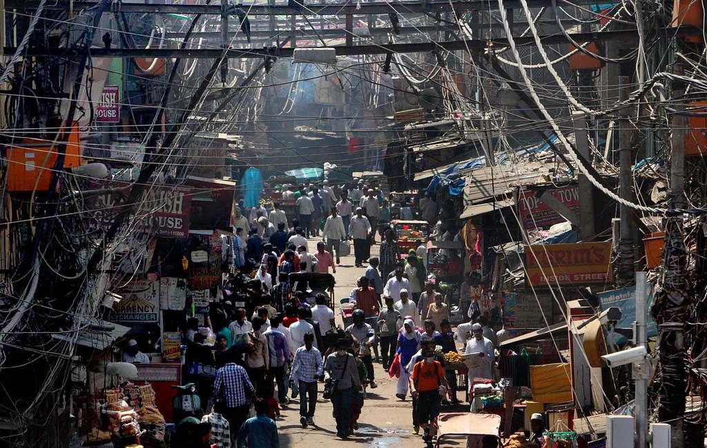 . Rickshaw ride through Old Delhi in India. Shmuel Thaler/Sentinel