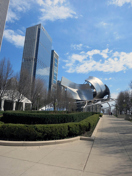 7-Blue Cross Building, and Jay Pritzker pavilion, Frank Gehry.