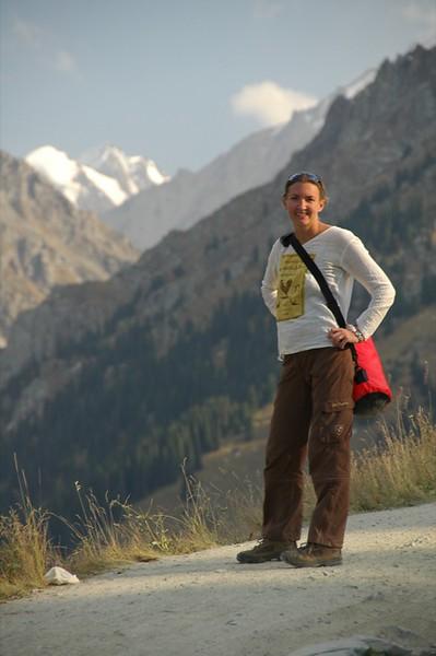 Audrey in the Tian Shan Mountains - Almaty, Kazakhstan