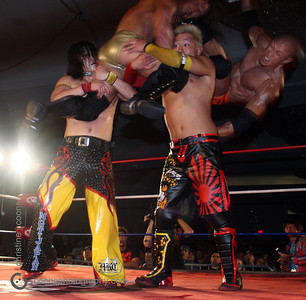 DGUSA 3/31/12 - Low Ki, BxB Hulk & Akira Tozawa vs PAC, Ricochet & Masaaki Mochizuki