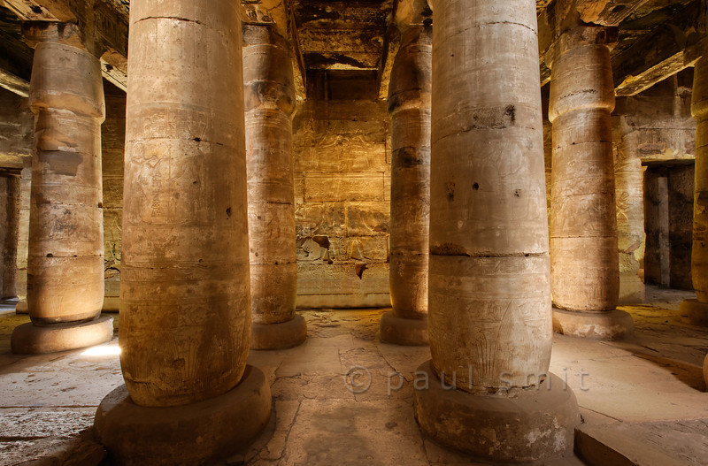 [Egypt 29861] 'Second Hypostyle Hall of Seti I Temple at Abydos.'