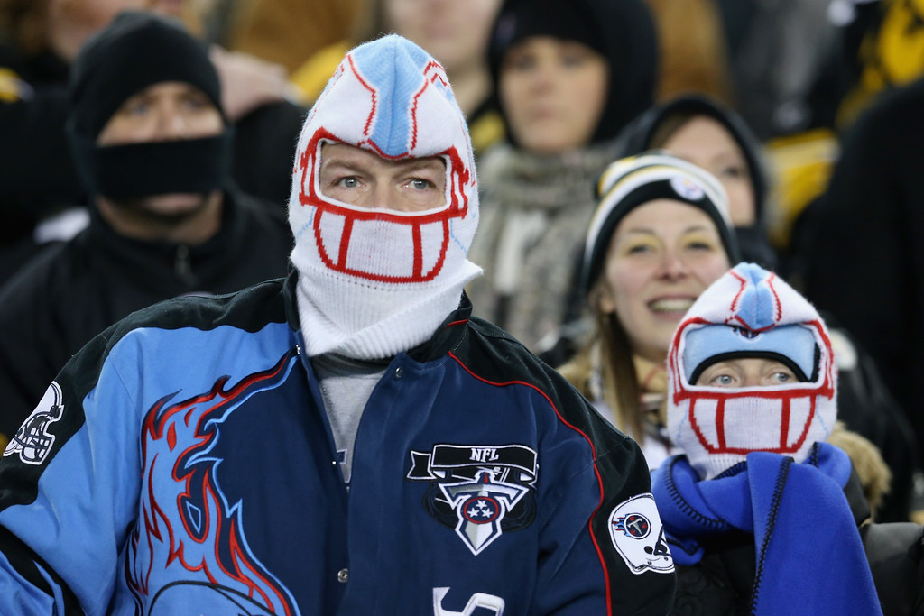 . NASHVILLE, TN - NOVEMBER 17:  Fans of the Tennessee Titans watch play during the first quarter as they take on the Pittsburgh Steelers at LP Field on November 17, 2014 in Nashville, Tennessee.  (Photo by Andy Lyons/Getty Images)