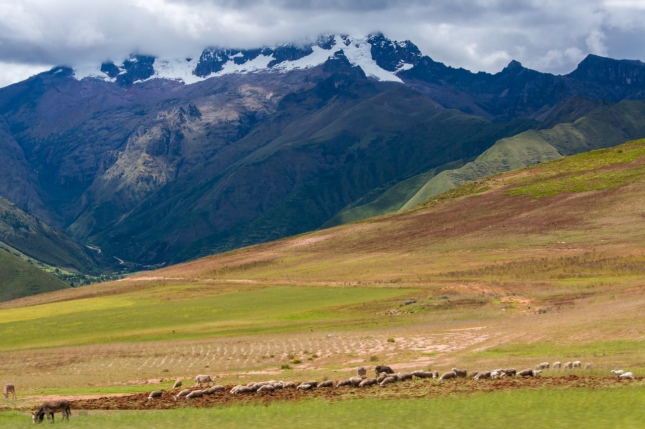 Andes Mountains framing the Sacred Valley.