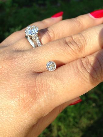 0.61ct Old European Cut Diamond in Milgrained Bezel Pendant Setting