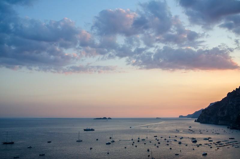 Positano sunset Aug 29