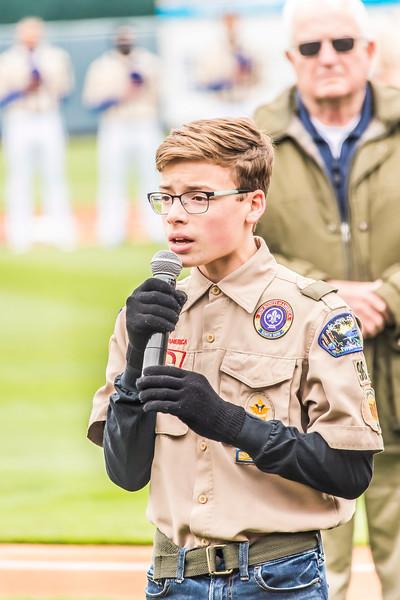 Soren Sings National Anthem at Iowa Cubs Stadium