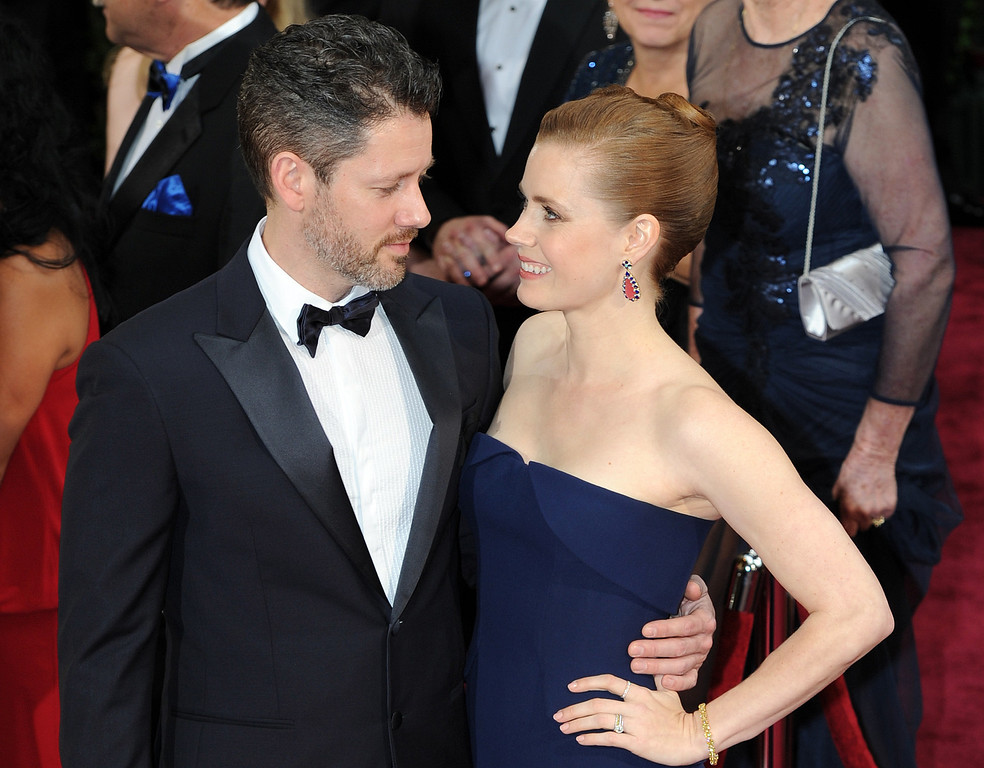 . Darren Le Gallo and Amy Adams attend the 86th Academy Awards at the Dolby Theatre in Hollywood, California on Sunday March 2, 2014 (Photo by John McCoy / Los Angeles Daily News)