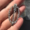 Art Deco Diamond and Onyx Brooch 3