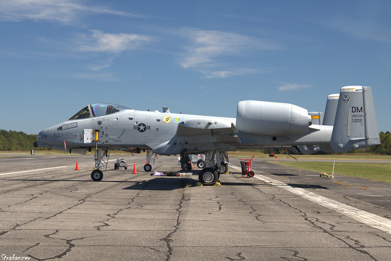 """Fairchild Republic A-10 Thunderbolt II """"Warthog"""" Rome GA 10/12/2018 This work is licensed under a Creative Commons Attribution- NonCommercial 4.0 International License."""