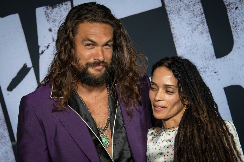 """HOLLYWOOD, CALIFORNIA - SEPTEMBER 28: Jason Momoa and Lisa Bonet attend the premiere of Warner Bros Pictures """"Joker"""" on Saturday, September 28, 2019 in Hollywood, California. (Photo by Tom Sorensen/Moovieboy Pictures)"""
