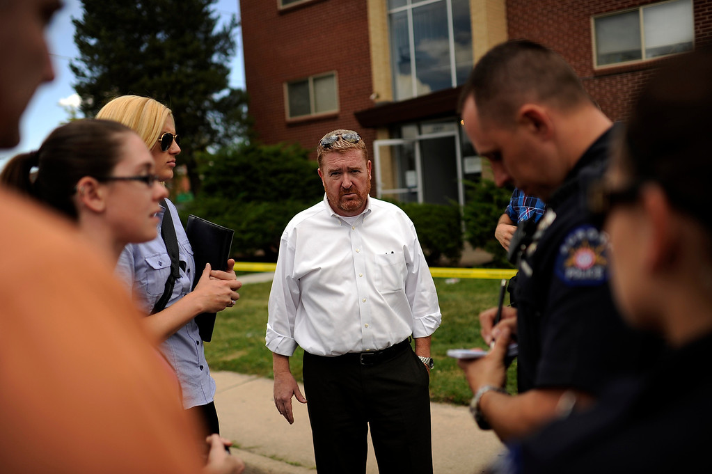 . Daniel King, chief trial deputy with the Colorado State Public Defender\'s Office,  and his team investigate the apartment of James Holmes in Aurora, CO. Wednesday, July 25, 2012. Hyoung Chang, The Denver Post
