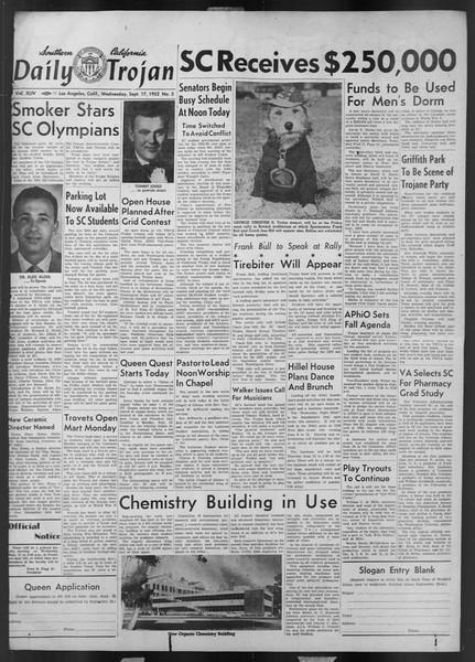 Daily Trojan, Vol. 44, No. 3, September 17, 1952