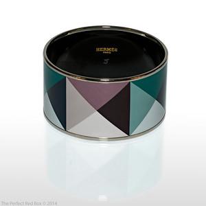 Bracelet Clous en Trompe l'Oeil - Extra Wide PM - Mineral - Enamel Silver Plated - NWOCTS - 1312181934