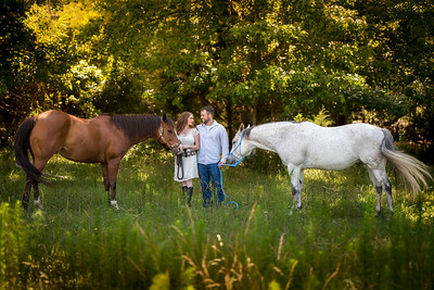 Kayla, Cameron, and horses