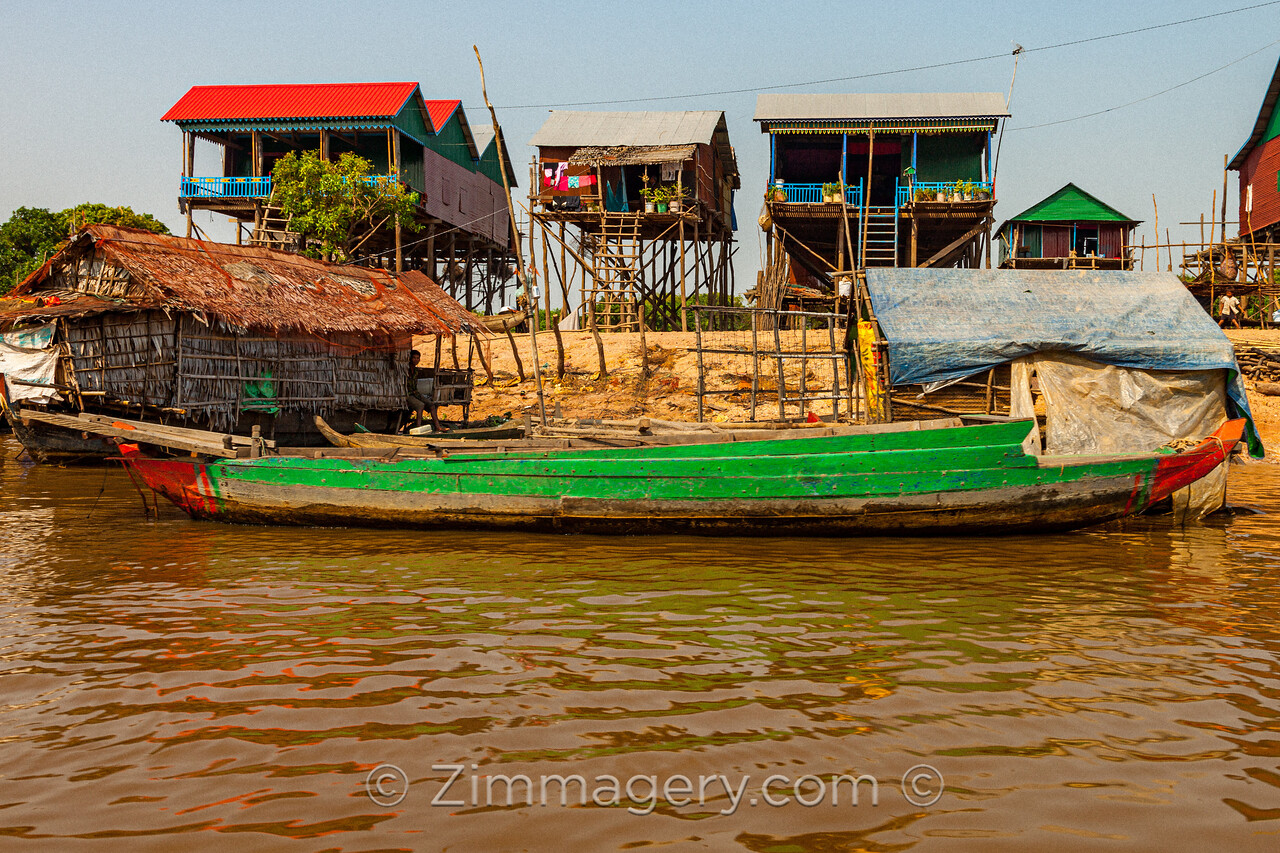 Green Boat, Floating City, Cambodia