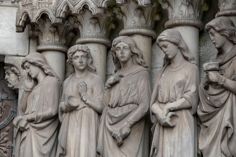 The Foolish Virgins from Parable of the Ten Virgins, Saint Fin Barre's Cathedral, Cork, Republic of Ireland
