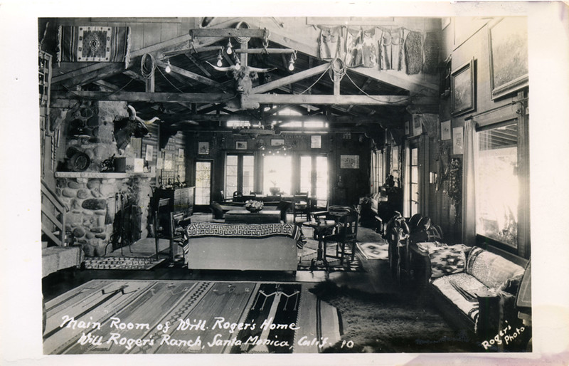 Main Room of Will Roger's Home